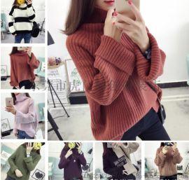 便宜毛衣库存韩版女装针织衫羊毛衫开衫外套便宜处理