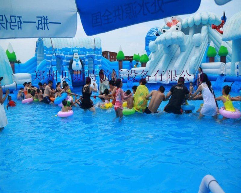 湖南邵阳支架游泳池厂家定做多种规格充气水滑梯