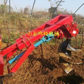 拖拉机后传动带挖坑机,种树施肥后置钻树坑机