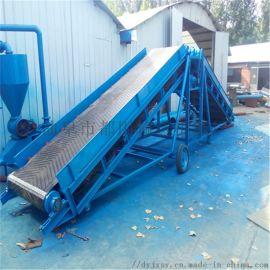 滚筒式养殖厂饲料输送机 上楼送格挡爬坡输送机xy1