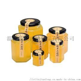 厂家直销优质六棱蜂蜜玻璃瓶 储物罐