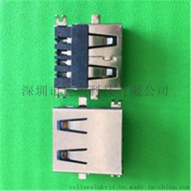 沙井USB连接器厂家供应USB母座连接器刺破式
