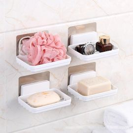 高档皂盒浴室免打孔墙上挂壁沥水皂盒酒店卫生间香皂盒
