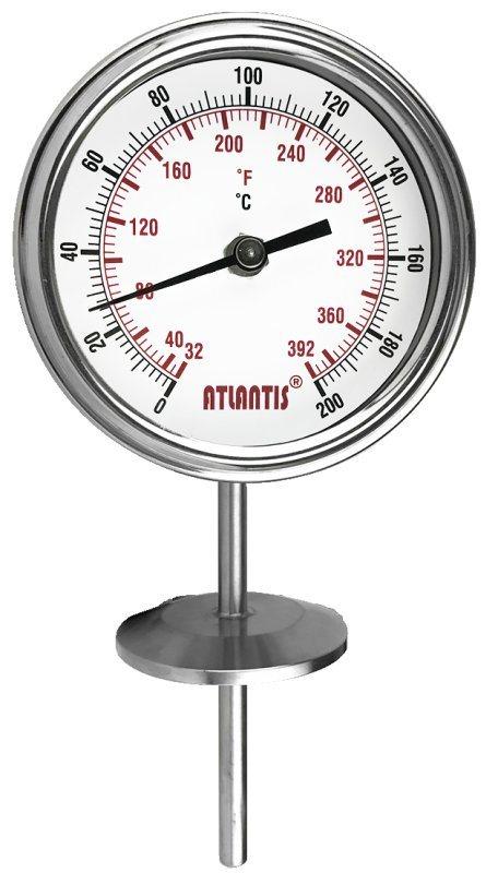 衛生型雙金屬溫度計 (直立式)  BTI-S