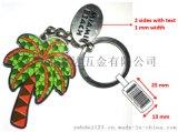 供應海灘風景椰子樹鑰匙扣  歡迎客戶來圖定製