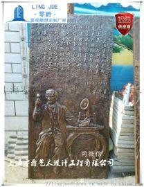纪念发明家锻铜浮雕文化墙