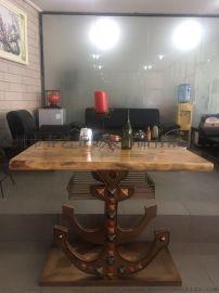 西青复古餐桌椅厂家 铁艺休闲家具 铁艺餐厅桌椅