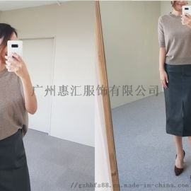 冬季服装尾货处理 尾货女装短袖t恤批发