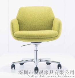 布艺休闲沙发 可旋转会客椅 商务休闲沙发椅