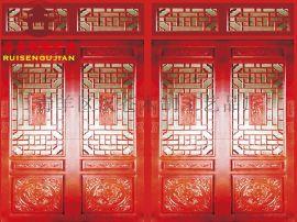 成都火锅店门窗厂,汉苍茶楼中餐厅门窗装修