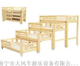 南宁幼儿园儿童床 广西幼儿实木床 南宁游乐设备