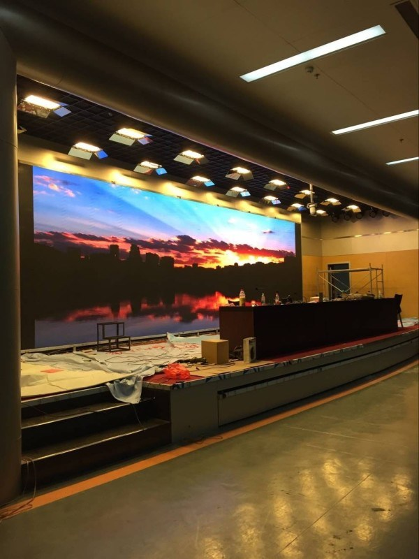 室內P6全綵高清高刷新會議互動廣告宣傳大螢幕