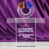 佛山水晶獎盃定做,公司年會水晶獎盃,優秀員工水晶獎盃