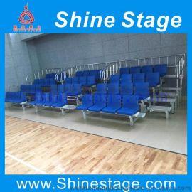 铝制5层简易户外看台,广州体育馆学校座椅看台厂家