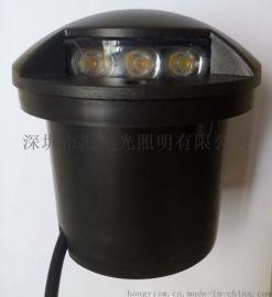 一侧发光蘑菇地埋灯龟壳灯平行出光LED地埋灯LED透光灯小地灯