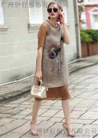 高端折扣女裝凱撒貝雷真絲連衣裙品牌尾貨批發
