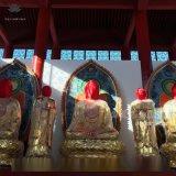 寺庙佛像四大天王 佛祖释迦摩尼佛 哼哈二将佛像
