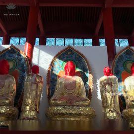 寺廟佛像四大天王 佛祖釋迦摩尼佛 哼哈二將佛像