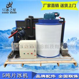 深圳冰之星5吨片冰机水产屠宰降温大型工业制冰机厂家