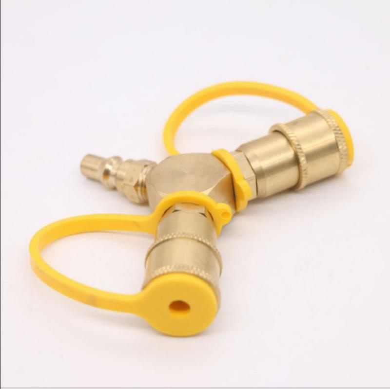 美国带表气瓶超流安全关断丙烷转换接头 QZT004