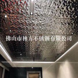 黑镜钢水波纹不锈钢板批发 波浪纹不锈钢压花板 黑钛镜面波浪纹不锈钢定做厂家