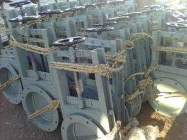 DN400圆形气动插板阀/气动插板阀建材专用