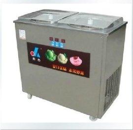 商用全自动双锅炒冰机器 全自动炒冰机 圆锅炒冰机