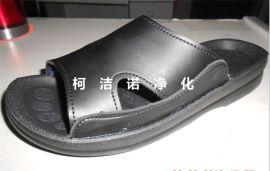 防静电拖鞋  PU拖鞋  防尘防护鞋 洁净鞋 无尘鞋 员工工鞋黑色 无尘车间拖鞋 劳保用品