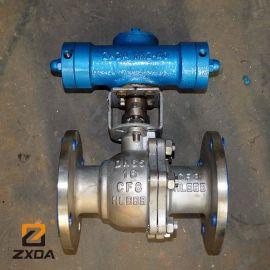 不锈钢材质液动球阀配执行器,液动球阀厂家选择,液动球阀应用案例