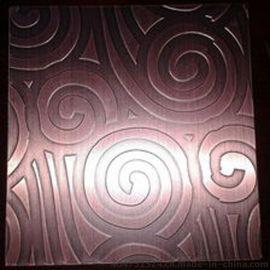 304红古铜祥云压花不锈钢装饰板 不锈钢镀铜加工价格