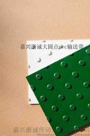 绿色大圆点花纹pvc输送带