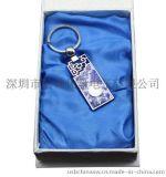 創意商務禮品/青花瓷鑰匙扣U盤8G/不鏽鋼陶瓷U盤 創意禮品u盤可定製LOGO