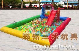 儿童彩色沙滩池  充气钓鱼池  海洋球池厂家批发