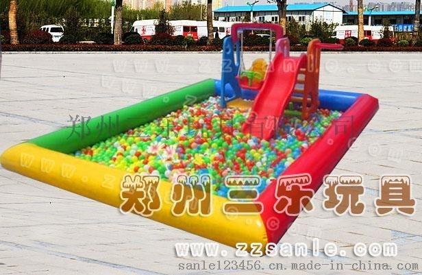 兒童彩色沙灘池  充氣釣魚池  海洋球池廠家批發