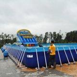 廣州海蘭藍大型支架游泳池,支架水池移動水上樂園