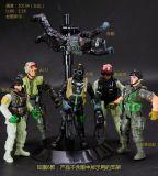 玩模樂特種部隊6人/套10cm人偶 SWAT 關節玩偶可動士兵兒童玩具禮盒裝批發