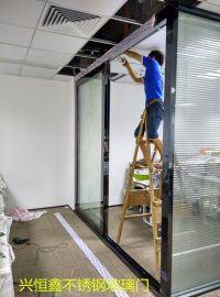 深圳黑钛金玻璃门 玻璃门安装维修报价