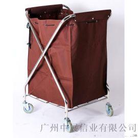 专业生产SITTY斯迪90.3203C不锈钢折叠式布草车/服务车