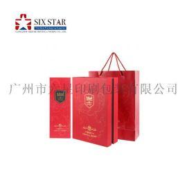 礼品盒酒盒包装葡萄酒手提袋手腕袋定制设计印刷包装厂直销价格实惠