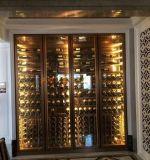 爆品輕奢不鏽鋼鈦金酒櫃 紅酒架 紅酒櫃恆溫