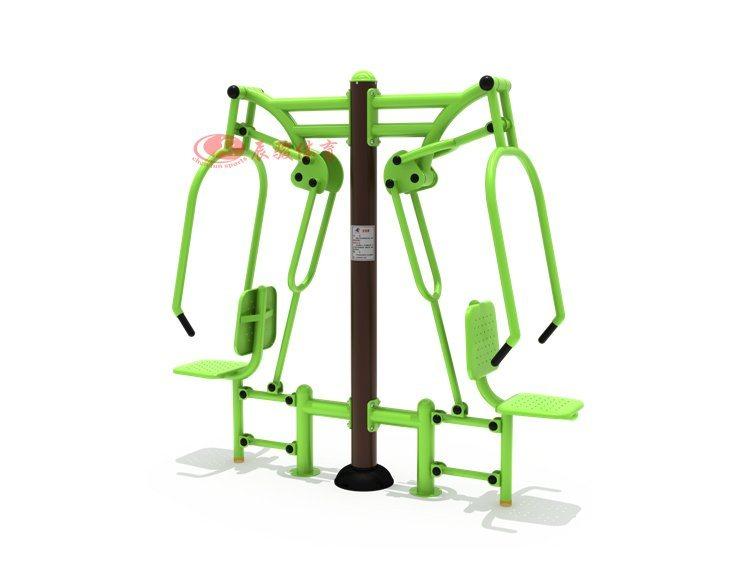 户外休闲健身器材 双位坐推训练器