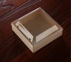 一次性方形三明治盒  木质面包盒  木制蛋糕盒  **西点吸塑盒子