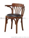 胡桃里餐厅桌椅 主题餐厅餐椅 复古做旧个性乡村风休闲椅 支持定制