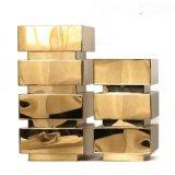 北欧日式插花古铜金色铁艺金属花器瓶样板房间装饰品客厅落地摆件