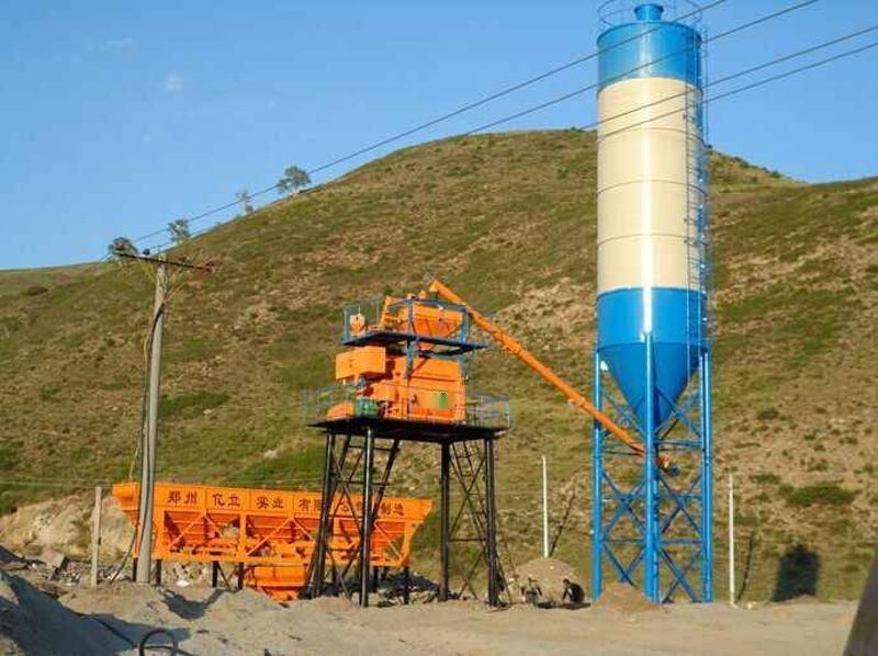 郑州亿立HZS50大型搅拌站_农村搅拌站 其他混凝土机械