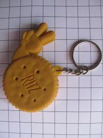 软胶匙扣 ,锁匙扣,PVC礼品,饼干钥匙扣吊饰