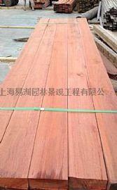 马来菠萝格防腐木上海易洲木业定尺加工