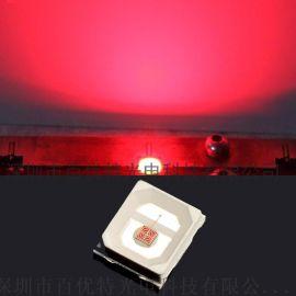 2835红光led植物灯珠 台湾鼎元 800-1000亮度红色贴片灯