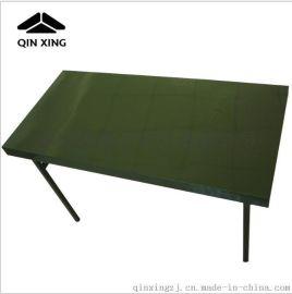 野营铝合金折叠桌 野战作业桌 户外军绿色折叠桌 钢制野战折叠桌