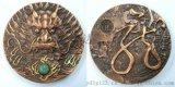 龙年生肖摆件龙年大铜章浮雕金属工艺品纪念徽章定制